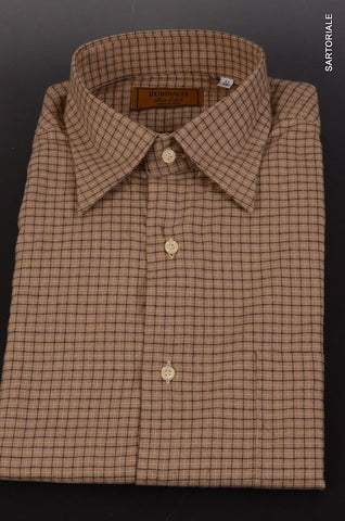 "RUBINACCI Napoli ""Blue Label"" Brown Plaid Cotton Casual Shirt 41 NEW 16 Classic - SARTORIALE - 1"