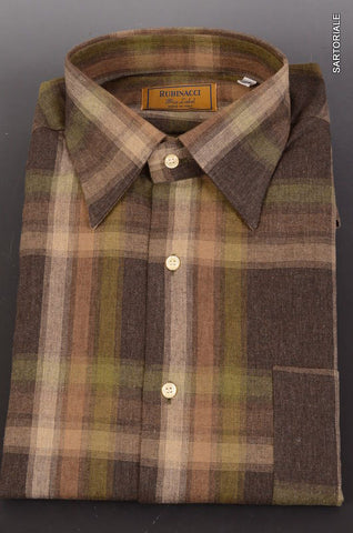 "RUBINACCI Napoli ""Blue Label"" Gray Plaid Cotton Casual Shirt NEW Classic Fit - SARTORIALE - 1"