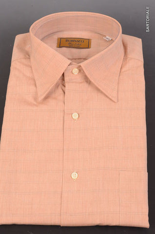 "RUBINACCI Napoli ""Blue Label"" Tan Striped Cotton Casual Shirt 41 NEW 16 Classic - SARTORIALE - 1"