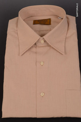"RUBINACCI Napoli ""Blue Label"" Solid Light Brown Cotton Casual Shirt NEW Classic - SARTORIALE - 1"