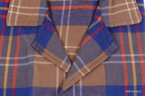 RUBINACCI Napoli Blue Plaid Wool Tartan Casual Shirt 40 NEW US 15.75 M Regular f - SARTORIALE - 2