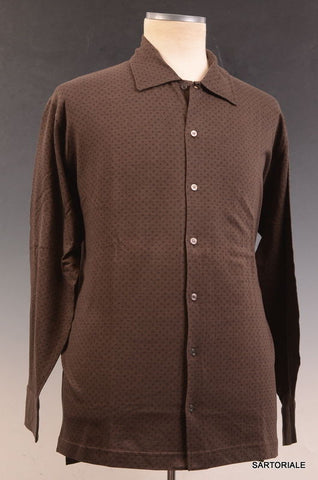 RUBINACCI Napoli Brown Cotton Casual Long Sleeve Polo Shirt NEW - SARTORIALE - 1