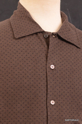 RUBINACCI Napoli Brown Cotton Casual Long Sleeve Polo Shirt NEW - SARTORIALE - 2