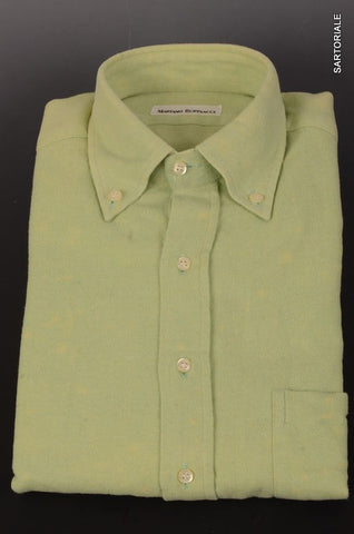 RUBINACCI Napoli Green Cotton Button-Down Casual Shirt 40 NEW 15.75 Classic Fit - SARTORIALE - 1