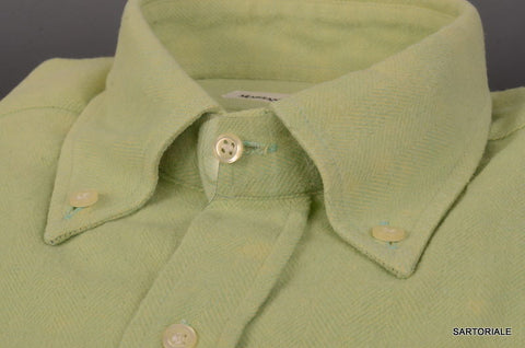 RUBINACCI Napoli Green Cotton Button-Down Casual Shirt 40 NEW 15.75 Classic Fit - SARTORIALE - 2