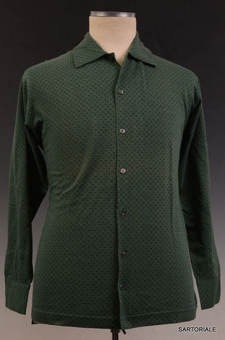 RUBINACCI Napoli Green Cotton Casual Long Sleeve Polo Shirt NEW - SARTORIALE - 1