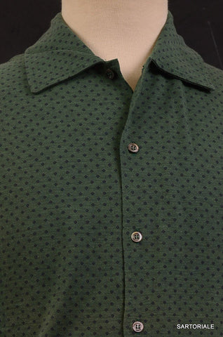 RUBINACCI Napoli Green Cotton Casual Long Sleeve Polo Shirt NEW - SARTORIALE - 2