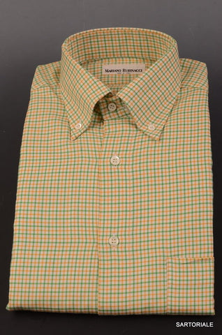 RUBINACCI Napoli Green Plaid Cotton Button Down Casual Shirt 39 NEW 15.5 Classic - SARTORIALE - 1