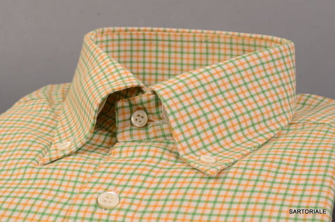 RUBINACCI Napoli Green Plaid Cotton Button Down Casual Shirt 39 NEW 15.5 Classic - SARTORIALE - 2