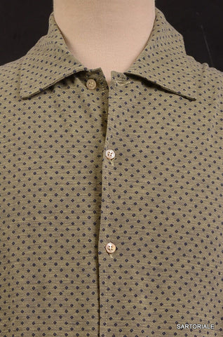 RUBINACCI Napoli Olive Green Cotton Casual Long Sleeve Polo Shirt NEW - SARTORIALE - 2