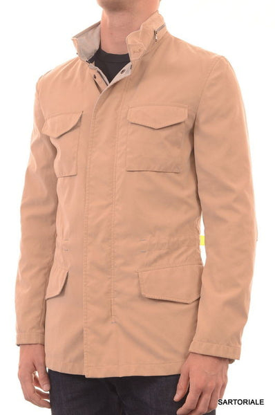 BRUNELLO CUCINELLI Tan Poly Hooded Field Safari Jacket US S 38 NEW EU 48 - SARTORIALE - 1