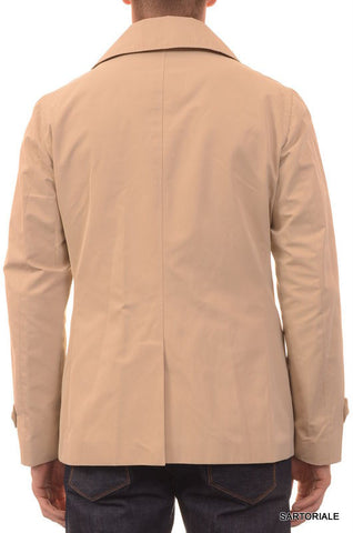 ISAIA Napoli Beige Cotton-Poly Double Breasted Peacoat Coat Jacket 40 M NEW 50 - SARTORIALE - 6