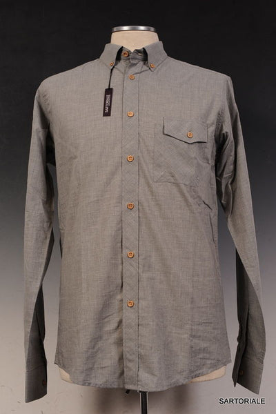COMMUNE DE PARIS 1871 Gray Cotton Dress Shirt EU 50 NEW US M - SARTORIALE - 1