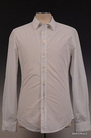 DOLCE & GABBANA D&G White Cotton Shirt US S / EU 48 Slim Fit - SARTORIALE - 1