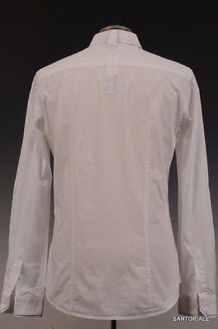 DOLCE & GABBANA D&G White Cotton Shirt US S / EU 48 Slim Fit - SARTORIALE - 3
