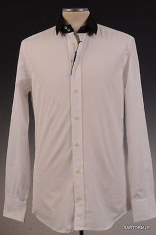 DOLCE & GABBANA White Cotton Shirt US 15.5 EU 39 Slim Fit - SARTORIALE - 1