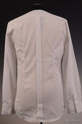 DOLCE & GABBANA White Cotton Shirt US 15.5 EU 39 Slim Fit - SARTORIALE - 3