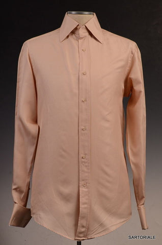 GUCCI Beige Silk-Cotton French Cuff Dress Shirt US 15.5 NEW EU 39 - SARTORIALE - 1