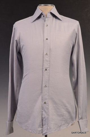 GUCCI Gray Striped Cotton French Cuff Dress Shirt US 15.5 NEW EU 39 - SARTORIALE - 1