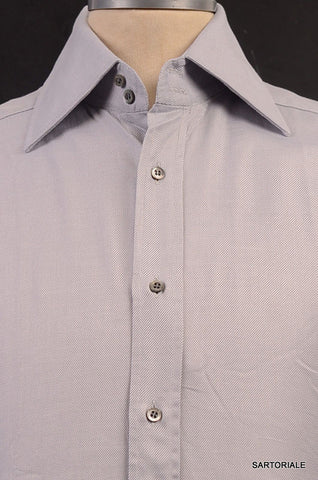 GUCCI Gray Striped Cotton French Cuff Dress Shirt US 15.5 NEW EU 39 - SARTORIALE - 2