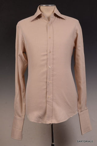 GUCCI ITALY Beige Cotton French Cuff Dress Shirt US 15.5 NEW EU 39 - SARTORIALE - 1
