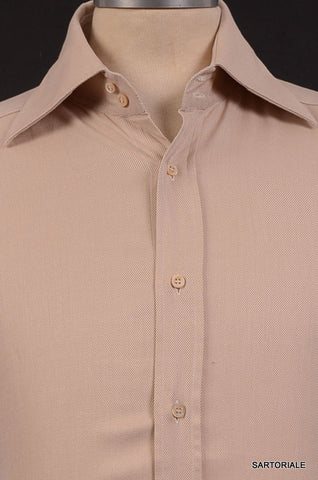 GUCCI ITALY Beige Cotton French Cuff Dress Shirt US 15.5 NEW EU 39 - SARTORIALE - 2