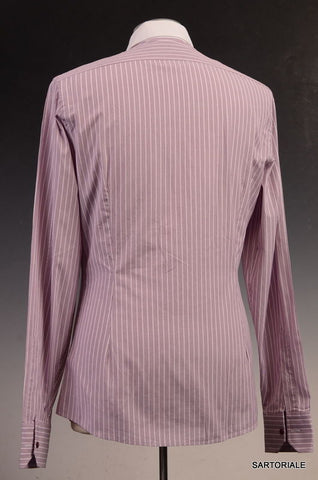 GUCCI Pink Striped Cotton Slim Fit Dress Shirt US 15.5 / EU 39 - SARTORIALE - 3