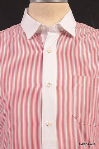GUCCI Red Striped Cotton Slim Fit Dress Shirt US 15.5 NEW EU 39 - SARTORIALE - 2