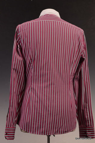 GUCCI Red Striped Cotton Slim Fit Dress Shirt US 15.5 Size EU 39 - SARTORIALE - 3