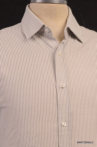 GUCCI White Striped Cotton Slim Fit Dress Shirt US 15.5 NEW EU 39 - SARTORIALE - 2
