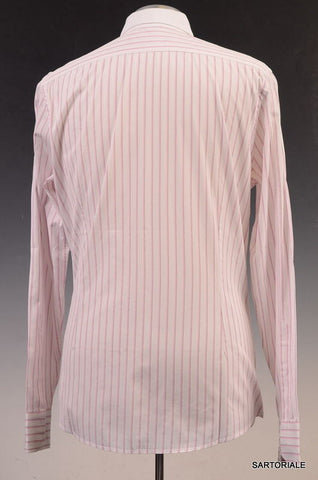 GUCCI White Striped Cotton Slim Fit Dress Shirt US 15.5 Size EU 39 - SARTORIALE - 3