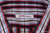 KITON NAPOLI Hand Made Blue Plaid Cotton Fitted Shirt NEW US 15.5 / EU 39 - SARTORIALE - 3