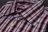 KITON NAPOLI Hand Made Blue Plaid Cotton Fitted Shirt NEW US 15.5 / EU 39 - SARTORIALE - 4
