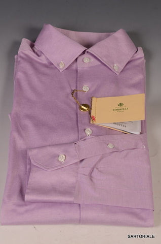 LUIGI BORRELLI Napoli Purple Cotton Dress Shirt US 15.5 NEW EU 39 - SARTORIALE - 1