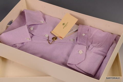 LUIGI BORRELLI Napoli Purple Cotton Dress Shirt US 15.5 NEW EU 39 - SARTORIALE - 2