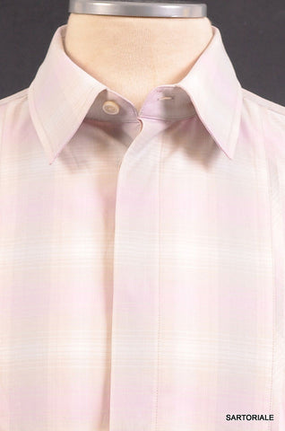 MARC JACOBS Multicolor Plaid Cotton Shirt US XS  IT 46 French Cuff - SARTORIALE - 2