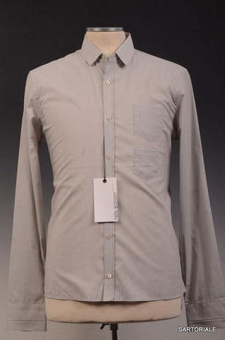 NEIL BARRETT Made In Italy Gray Cotton Dress Shirt US 15.5 NEW EU 39 - SARTORIALE - 1