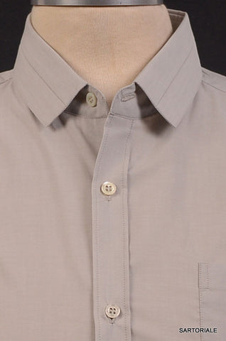 NEIL BARRETT Made In Italy Gray Cotton Dress Shirt US 15.5 NEW EU 39 - SARTORIALE - 2