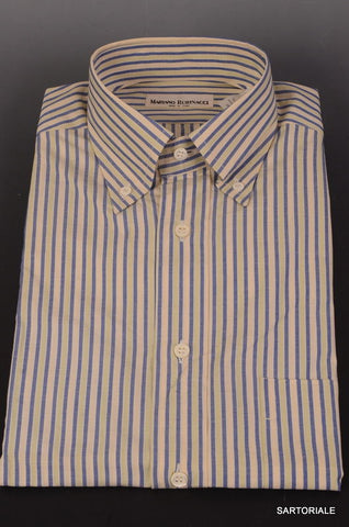 RUBINACCI Napoli Blue-Green Cotton Dress Shirt 37 NEW 14.5 Classic Fit - SARTORIALE - 1