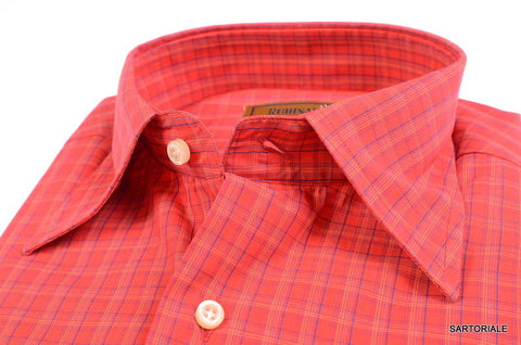 "RUBINACCI Napoli ""Blue Label"" Red Plaid Cotton Dress Shirt 15.75 NEW 40 - SARTORIALE - 2"