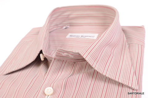 RUBINACCI Napoli Hand Made Gray Striped Cotton Dress Shirt NEW Classic Fit - SARTORIALE - 2