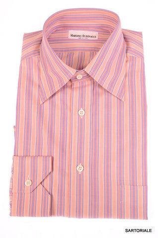 RUBINACCI Napoli Pink Striped Cotton Dress Shirt US 15.75 NEW EU 40 Classic Fit - SARTORIALE - 1