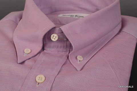 RUBINACCI Napoli Solid Purple Cotton Button-Down Dress Shirt 43 NEW 17 Reg Fit - SARTORIALE - 2