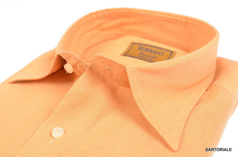 RUBINACCI Napoli 'Blue Label' Solid Tan Cotton Dress Shirt NEW Classic Fit - SARTORIALE - 2