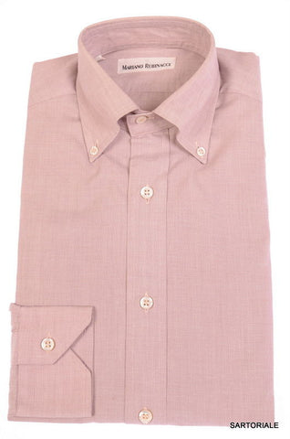 RUBINACCI Napoli Solid Mallow Cotton Button-Down Dress Shirt NEW Regular Fit - SARTORIALE - 1