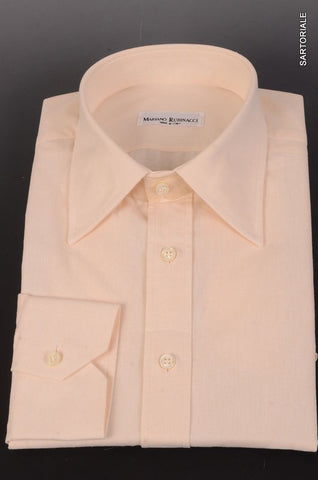 RUBINACCI Napoli Solid Off-White Cotton Dress Shirt 44 NEW 17.5 Classic Fit - SARTORIALE - 1