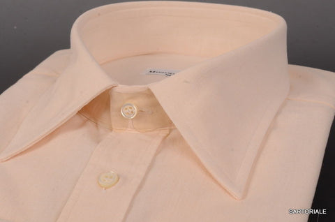 RUBINACCI Napoli Solid Off-White Cotton Dress Shirt 44 NEW 17.5 Classic Fit - SARTORIALE - 2