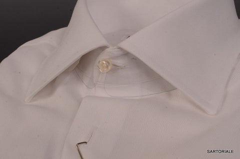 RUBINACCI Napoli White Formal Tuxedo F Cuff Dress Shirt 42 NEW 16.5 Classic Fit - SARTORIALE - 2