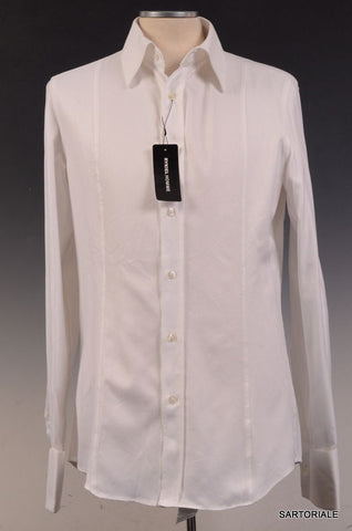 RYKIEL HOMME Made In France White Cotton Dress Shirt US L NEW EU 40 - SARTORIALE - 1