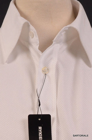 RYKIEL HOMME Made In France White Cotton Dress Shirt US L NEW EU 40 - SARTORIALE - 2